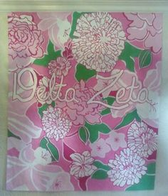 Hand painted Lilly for recruitment. TSM. (GreekGear.com coupon code 10% off Greek181)