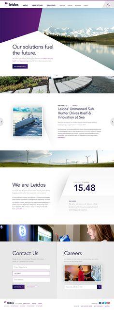Leidos Website Design by Jay Kokernak #goodstuff #leidosislucky #website #webdesign