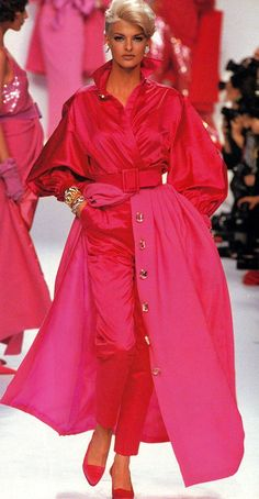 Linda for Christian Dior, f/w 1991/92...RED PASSION