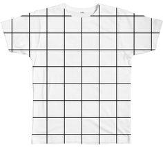 Grid Tee http://shop.inu-inu.co/gridTees #INUINU #ShopINUINU #Kawaii #Cute #Clothes #Unisex #PlusSize #Grid #White #Tee #GraphicTee #Black