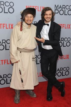 Lorenzo Richelmy and Amarsaikhan Baljinnyam at event of Marco Polo (2014)