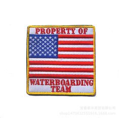 New sewing patchwork american flag emboridery iron on patch jacket badge USA property of waterboarding team patches Cheap Patches, Iron On Patches, Clothing Patches, American Flag, Sewing Crafts, Badge, Arts And Crafts, Embroidery, Jacket