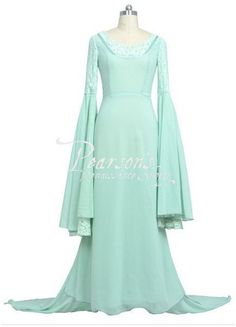 Lord of the Rings Arwen Light Green Dress - The Hobbit