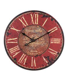 Take a look at this Red Rustic Wall Clock by Rustic Charm: Home Décor on #zulily today!