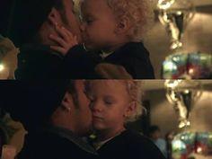 Davi Lucca kissing neymar