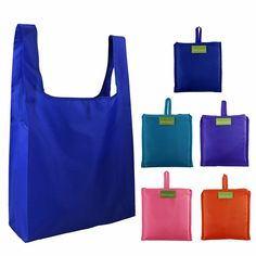 Reusable Grocery Bags Set, Grocery Tote Foldable into Attached Pouch, Ripstop Polyester Waterproof Reusable Shopping Bags, Washable, Durable and Lightweight (Classic Pattern 5 Pack) Best Reusable Grocery Bags, Reusable Shopping Bags, Reusable Bags, Shopping Totes, Produce Bags, Produce Stand, Green Bag, Zipper Bags, Pouch