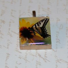 Butterfly Scrabble Tile Pendant by GreyGyrl on Etsy, $4.00