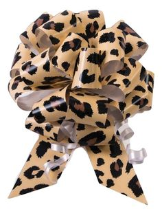 10-5' Cheetah Print Pull Bow Pew Bows Wedding Decorations Christmas Gift Wrap >>> Read more  at the image link.