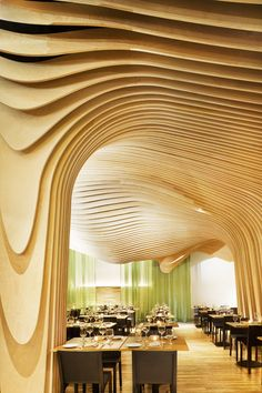 Interior design ideas, home decorating photos and pictures, home design, and contemporary world architecture new for your inspiration. Parametrisches Design, House Design, Design Ideas, Wood Design, Design Trends, Modern Design, Strate Design, Conception Paramétrique, Wood Slat Ceiling
