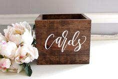 Rustic Wedding Card Box, Wooden Card Box, Large Card Box, Wedding Decor, Vintage Wedding, Donation Box, B-1