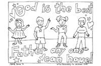 FATHER'S DAY Christian Coloring Pages for Kids, Compliments of Warren Camp Design