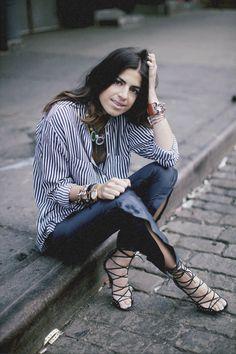 Leandra Medine - Writer, Blogger.   Her personal style in 3 words: Little boy (or) girl