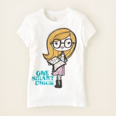 smart girl graphic tee from The Children's Place