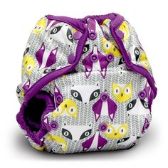 Up-To-Date Styling 3 Rumparooz One Size Pocket Diaper dandelion, Orchid, Aquarius