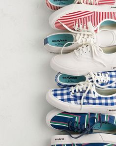 Exclusive Seavees® for J.Crew. Originally designed in the 1960s in California. Now ready for 2017 in gingham and stripes that you'll only find here.