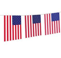 Add some color to your next party. Indoor/outdoor banner. 20 flags in total. Popular for Bbqs, outdoor parties, schools, etc.