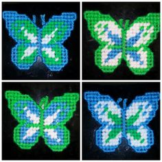 Set of 4 Butterflies Refrigerator Magnets by YolandasCanvas