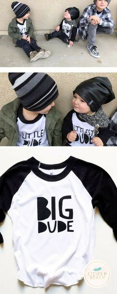 Funny Sayings Boy's Tees | Explore unique graphic designed t-shirts for kids and the whole family at http://www.citizenbeachapparel.com/product/big-dude-boys-raglan-copy/ | Baby Fashion