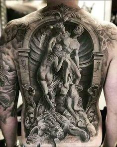 Back Tattoos For Guys, Full Back Tattoos, 3d Tattoos For Men, Back Tattoo Men, Body Art Tattoos, Sleeve Tattoos, Cool Tattoos, Best 3d Tattoos, Nerd Tattoos