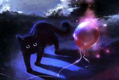 Black Cat Art, Black Cats, I Love Cats, Cute Cats, Magic Cat, Cat Background, Spray Paint Art, Cat Drawing, Surreal Art
