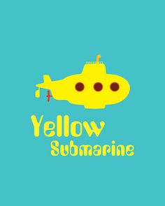 Yellow Submarine Print Beatles poster music by PrintableQuirks