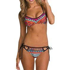 Frauen-Bikini-gesetzte Badebekleidung Bandeau Push-Up-BH Padded-Badeanzugbeachwear: