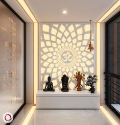 10 Portentous Tips: False Ceiling Architecture Spaces false ceiling restaurant interiors.False Ceiling Living Room Window Treatments false ceiling design for bar.False Ceiling Home Lighting. Temple Room, Home Temple, Jain Temple, Buddhist Temple, Temple Design For Home, Glass Wall Design, Mandir Design, Pooja Room Door Design, House Door Design