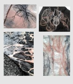 inspired by nature - textile - felting - Murga