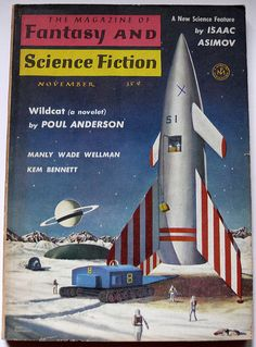 The Magazine of Fantasy and Science Fiction, Nov. 1958, cover by John Pederson Jr.
