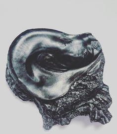 🐚 Photo d'un coquillages à l'encre de Chine