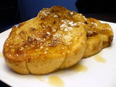 Recipe for Eggnog French Toast at Life's Ambrosia