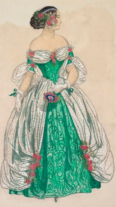 Costume design by Léon Bakst (1866-1924), not dated, Papillons, not dated, pencil and gouache. Stravinsky-Diaghilev Foundation Collection.