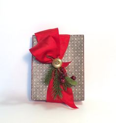Christmas Gift Wrap Gift Cards  Pre-wrapped Gift by WrapsodyandInk