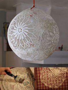 Lámpara DIY de encaje
