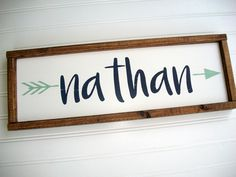 Hand painted custom baby signs