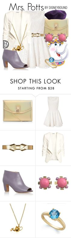 """Mrs. Potts"" by leslieakay ❤ liked on Polyvore featuring Lipsy, Marni, H&M, Maison Margiela, Chanel, Alex Monroe, Victoria Townsend, women's clothing, women and female"