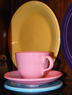 Fiestaware cup and saucer