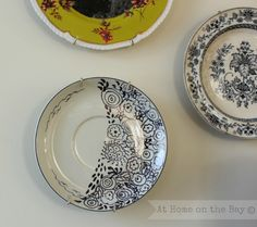 diy doodle plate: At Home on the Bay
