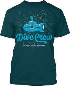Dive Crew Submerged VBS 2016 T-Shirt Design #16222