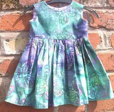 Handmade Baby girls dress 100% cotton  by ThePhoenixRisesAgain
