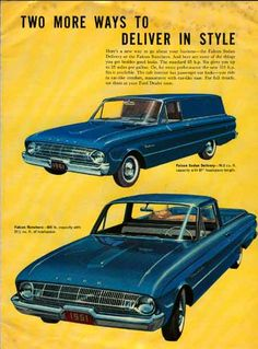 1961 Ford Truck Ad.  And they were called station wagons not SUVs