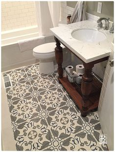 Decorative Tiles For Bathroom Beauteous Another Image Of The Nadia Aubergine Grey Encaustic Cement Tile Inspiration