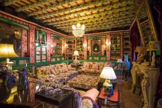 =Palacio de San Benito in Cazalla, Spain, designed by its owner Manuel Morales de Jódar. X Grand Stairway, Roman Pool, Cosy Room, Hotel Lounge, Small Bars, French Empire, Rococo Style, Bar Areas, Gold Wood