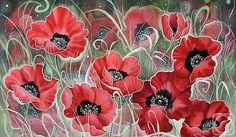 ''Poppies'' by Sokolova Nadezhda ♥•♥•♥