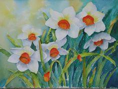 Daffodil Garden Painting  - Daffodil Garden Fine Art Print
