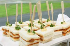 Cold Finger Food Recipes for a Crowd - Sandwiches, cheese sauce, eggs, cake pops