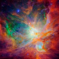 Composite images of the Orion Nebula taken by the Hubble. This is my favorite nebula, and my favorite photo version of it! I want to cover my wall in it! Cosmos, Hubble Space Telescope, Space And Astronomy, Telescope Images, All Nature, Science And Nature, Spirit Science, Orion Nebula, Carina Nebula