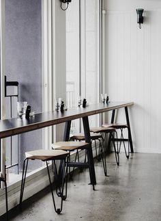 Tuckbox Design custom stools at Cafe LaFayette, Port Melbourne