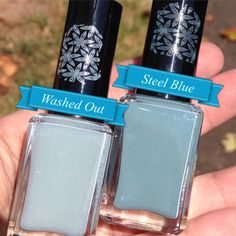 Stamping Polishes ~ blue-greys ~ custom hand crafted nail polish by justricarda on Etsy
