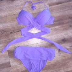 Lilac Wrap Bikini Lilac purple wrap bikini Swim Bikinis